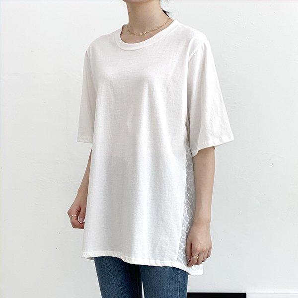 007 면자수레이스반팔티 DTGA463 도매 배송대행 미시옷 임부복