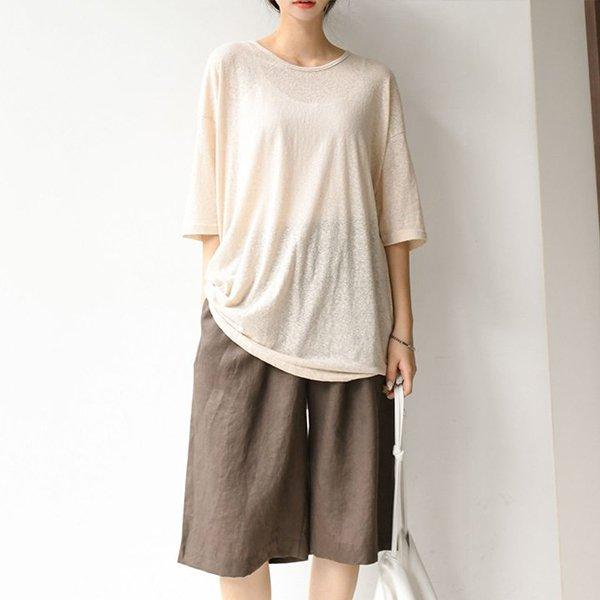 007 여리비침루즈핏롱티 DBEA551 도매 배송대행 미시옷 임부복