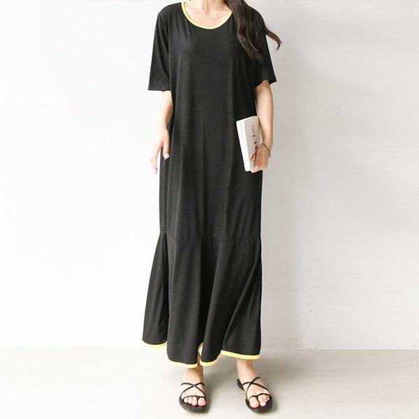 007 네온머메이드롱원피스 DBEA553 도매 배송대행 미시옷 임부복