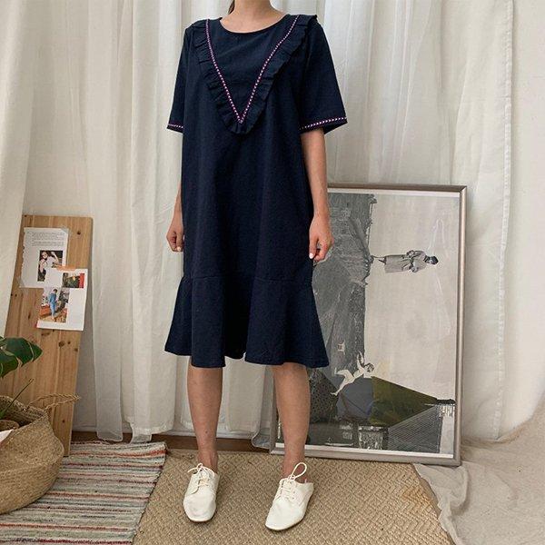 BS 보헤미안프릴원피스(A559H007) 도매 배송대행 미시옷 임부복