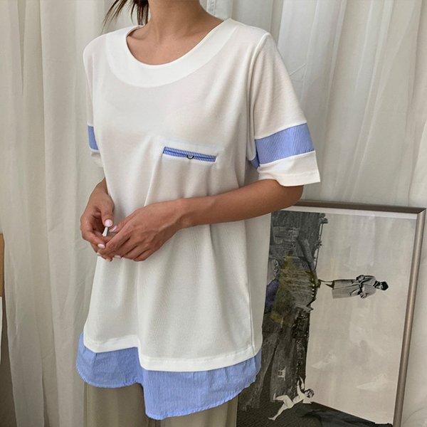 BS 심플배색쿨롱박스티(A560H007) 도매 배송대행 미시옷 임부복