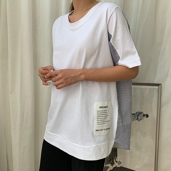 007 반전줄지라벨박스티 DBSA564 도매 배송대행 미시옷 임부복