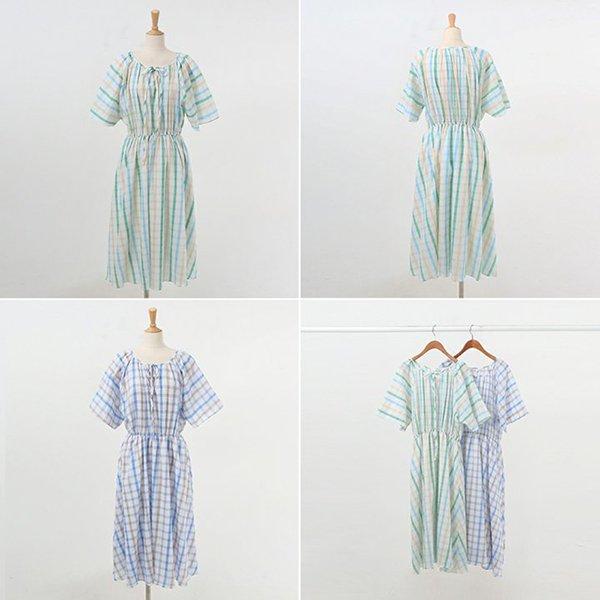 007 컬러링줄플레어원피스 DWBA566 도매 배송대행 미시옷 임부복