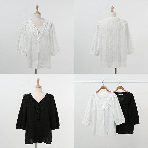 007 레이니플라워블라우스 DWBA567 도매 배송대행 미시옷 임부복