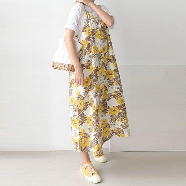 빅사이즈 007 바캉스패턴끈롱원피스 DMRA571 도매 배송대행 미시옷 임부복