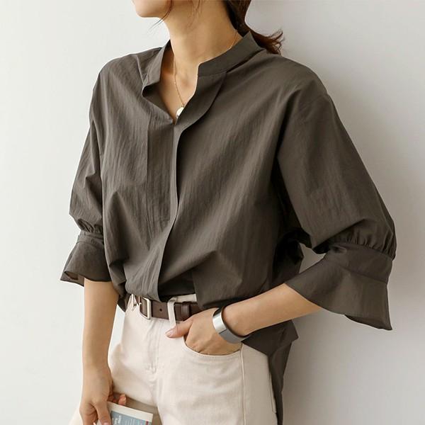 빅사이즈 007 모던무드볼륨셔링셔츠 DSOA577 도매 배송대행 미시옷 임부복
