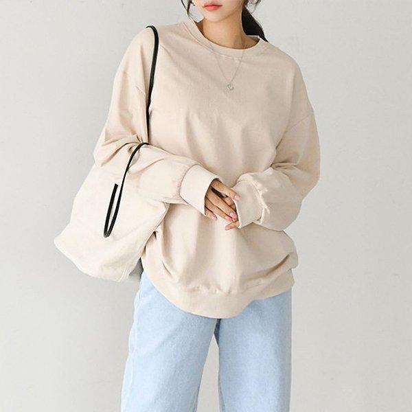 008 오버쭈리맨투맨긴팔티 DASA609 도매 배송대행 미시옷 임부복