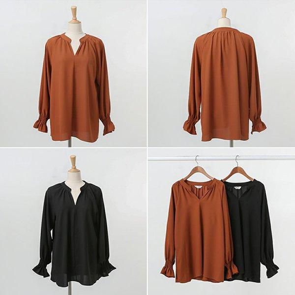 008 소매밴딩프릴블라우스 DWBA646 도매 배송대행 미시옷 임부복