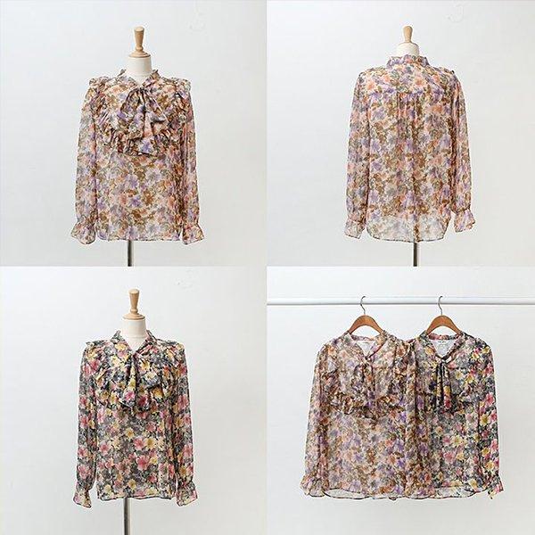 009 컬러풀꽃쉬폰블라우스 DWBB020 도매 배송대행 미시옷 임부복