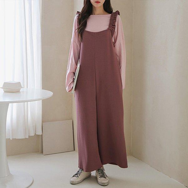 009 프릴멜빵티원피스세트 DPOB034 도매 배송대행 미시옷 임부복