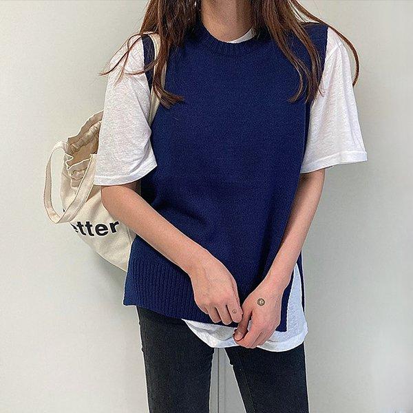 009 리본테일트임니트조끼 DTGB041 도매 배송대행 미시옷 임부복