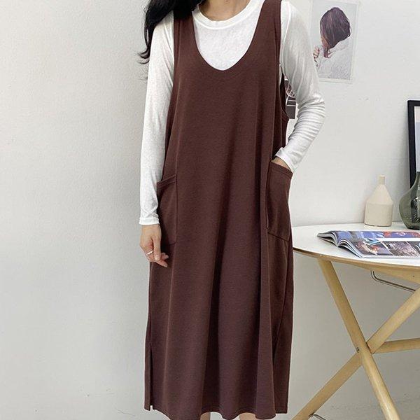 009 레이빅포켓나시원피스 DZYB048 도매 배송대행 미시옷 임부복