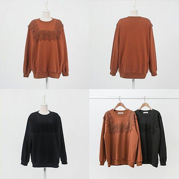 009 로즈레이스맨투맨티 DWBB074 도매 배송대행 미시옷 임부복