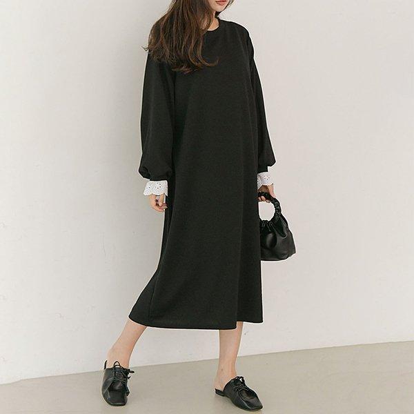 009 배색레이스앤틱원피스 DSOB089 도매 배송대행 미시옷 임부복