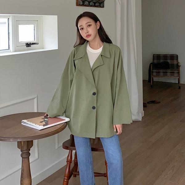 010 박시오버버튼심플자켓 DNOB144 도매 배송대행 미시옷 임부복