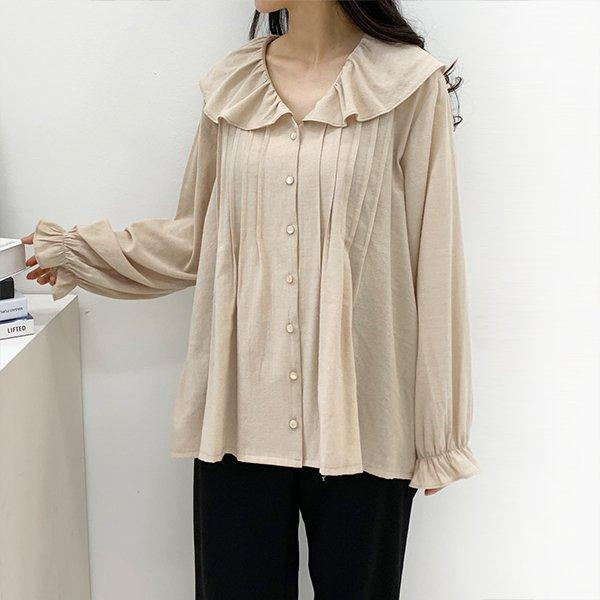 010 프릴카라퍼프블라우스 DTGB166 도매 배송대행 미시옷 임부복