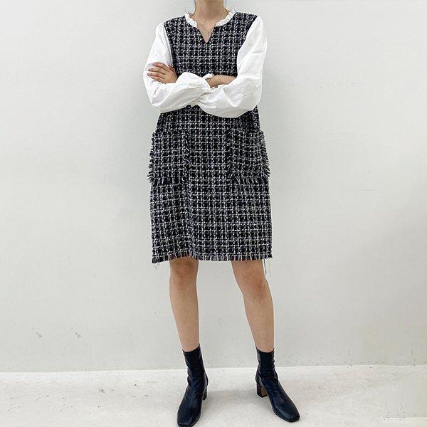 010 패치포켓트위드원피스 DTGB167 도매 배송대행 미시옷 임부복