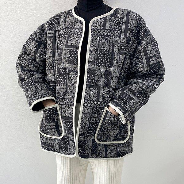 010 페이즐퀼팅면박스자켓 DTGB172 도매 배송대행 미시옷 임부복
