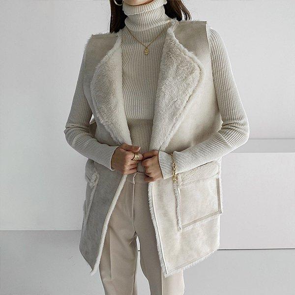 011 스타일업밍크퍼베스트 DBEC011 도매 배송대행 미시옷 임부복