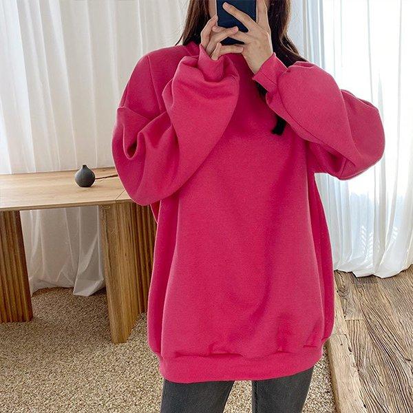 011 비비드벌룬기모맨투맨 DNOC022 도매 배송대행 미시옷 임부복