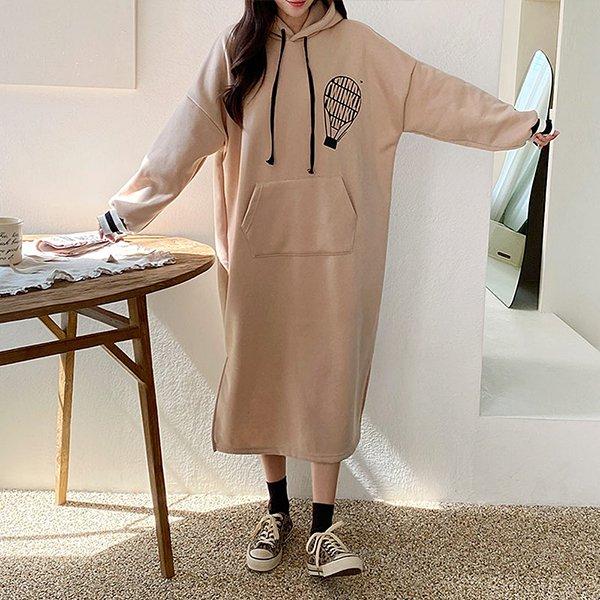 011 유니크나염기모원피스 DPOC024 도매 배송대행 미시옷 임부복