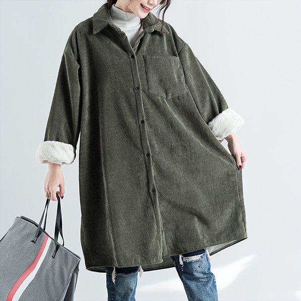 011 톤다운코듀로이롱셔츠 DADC059 도매 배송대행 미시옷 임부복