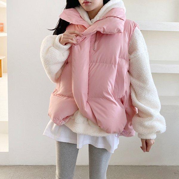 011 러블리볼륨패딩베스트 DADC061 도매 배송대행 미시옷 임부복