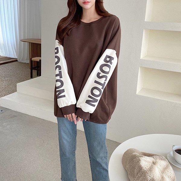 011 보스톤드롭숄더맨투맨 DILC078 도매 배송대행 미시옷 임부복