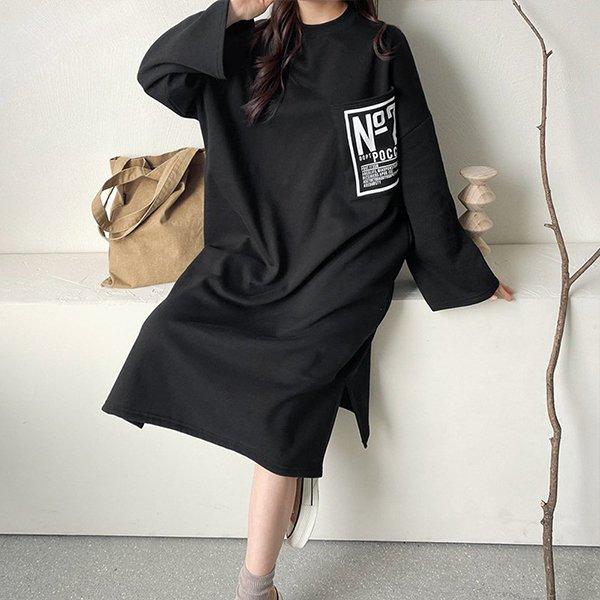 012 빅포켓박스핏롱원피스 DNOC297 도매 배송대행 미시옷 임부복