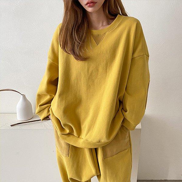 012 빈티지배색오버맨투맨 DKBC306 도매 배송대행 미시옷 임부복