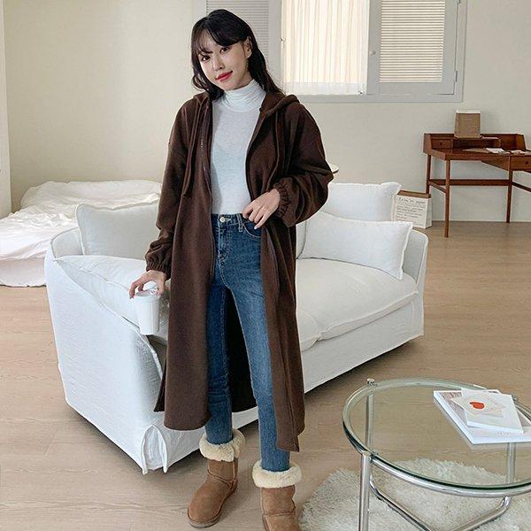 012 부드러운후리스롱집업 DMRC318 도매 배송대행 미시옷 임부복
