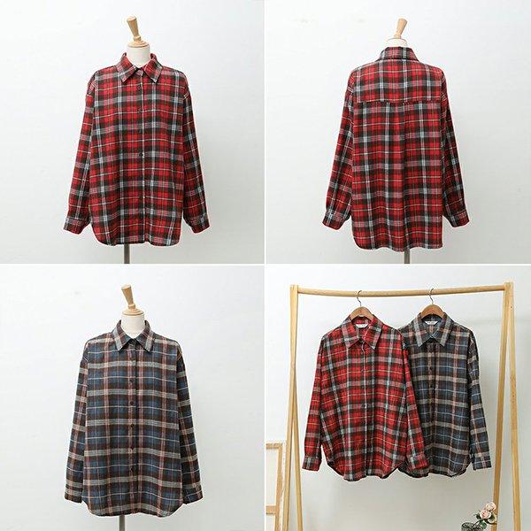 001 무난한오버핏체크남방 DWBC326 도매 배송대행 미시옷 임부복