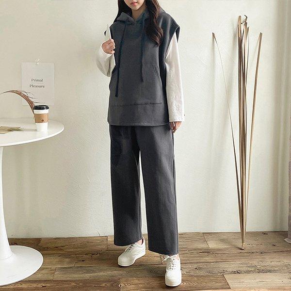001 굿와이드빅후드베스트 DKBC327 도매 배송대행 미시옷 임부복