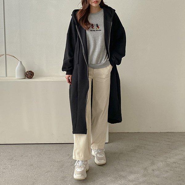 001 무지절개빅후드롱집업 DKBC330 도매 배송대행 미시옷 임부복