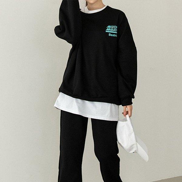 001 프린팅무드기모맨투맨 DSOC349 도매 배송대행 미시옷 임부복