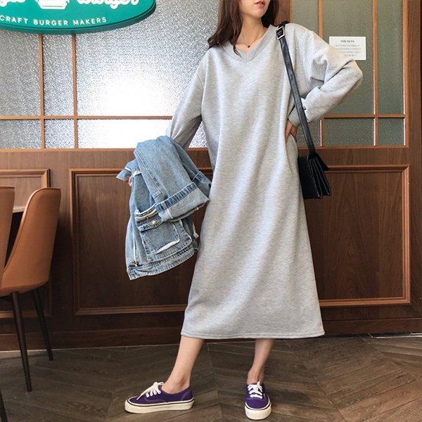 001 액티브기모루즈원피스 DSOC355 도매 배송대행 미시옷 임부복
