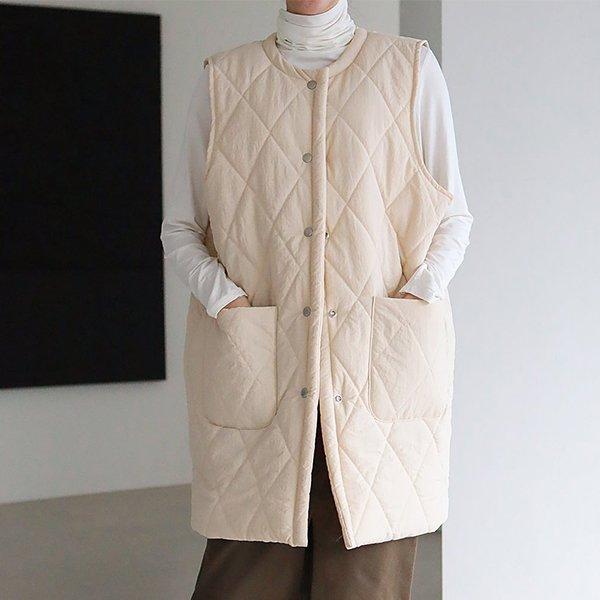 001 푹신한퀄팅누빔베스트 DMJC363 도매 배송대행 미시옷 임부복