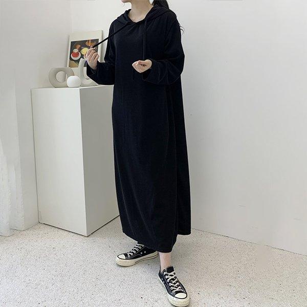 102 차르르끈후드롱원피스 DZYC764 도매 배송대행 미시옷 임부복