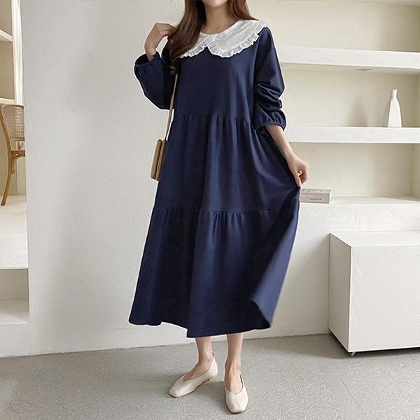 102 무디숄카라프릴원피스 DGRC771 도매 배송대행 미시옷 임부복