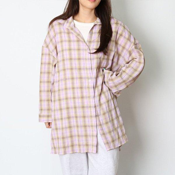 102 잔잔한체크패턴롱남방 DHGC773 도매 배송대행 미시옷 임부복