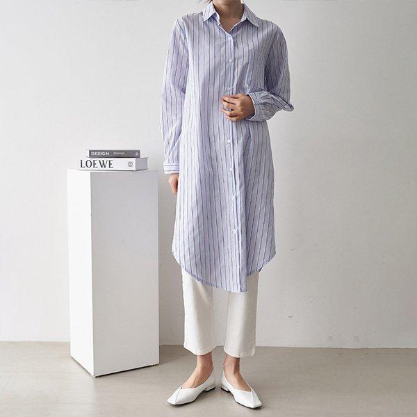 102 온더스트라이프롱셔츠 DIRC779 도매 배송대행 미시옷 임부복