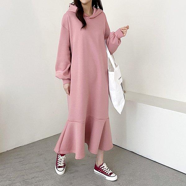 102 벌룬후드오버핏원피스 DGRC781 도매 배송대행 미시옷 임부복