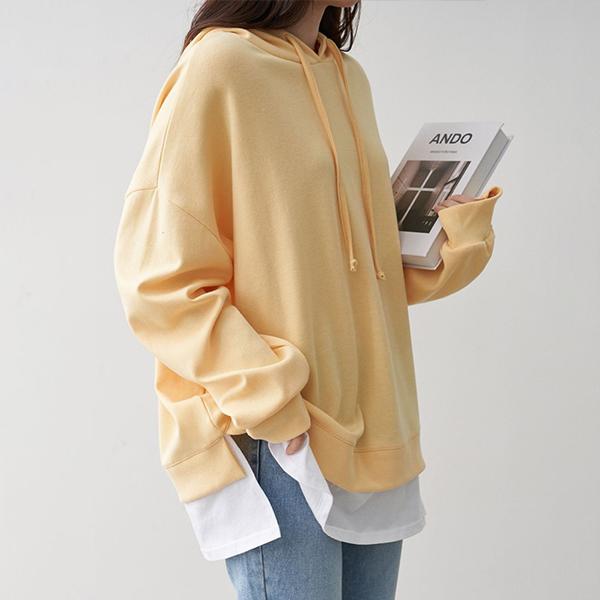 102 크레파스배색트임후드 DBNC790 도매 배송대행 미시옷 임부복