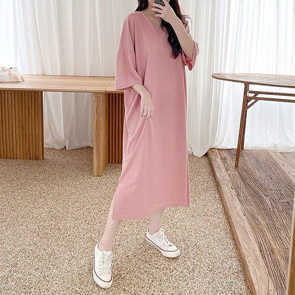 103 여리롱슬릿오버원피스 DNOC796 도매 배송대행 미시옷 임부복