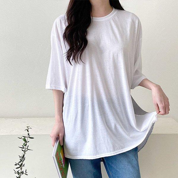 103 깔끔한라운드셔츠반팔 DNOC798 도매 배송대행 미시옷 임부복