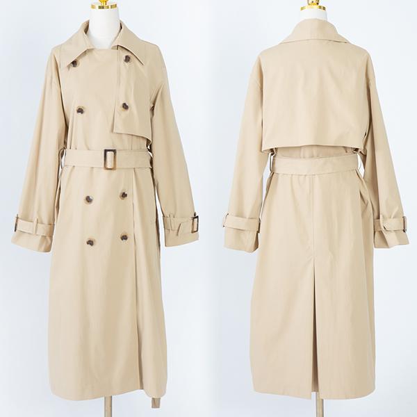 103 댄디투버튼트렌치코트 DCME053 도매 배송대행 미시옷 임부복