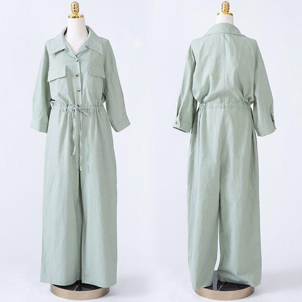 104 엣지반오픈통점프슈트 DCME063 도매 배송대행 미시옷 임부복