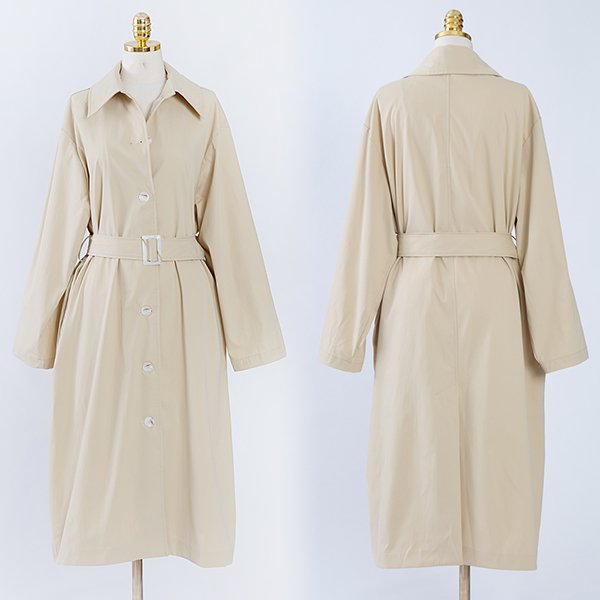 104 댄디오버핏배색롱코트 DCME064 도매 배송대행 미시옷 임부복