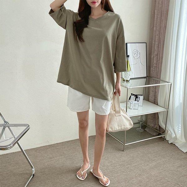 104 코니브이넥컷팅7부티 DNOE125 도매 배송대행 미시옷 임부복