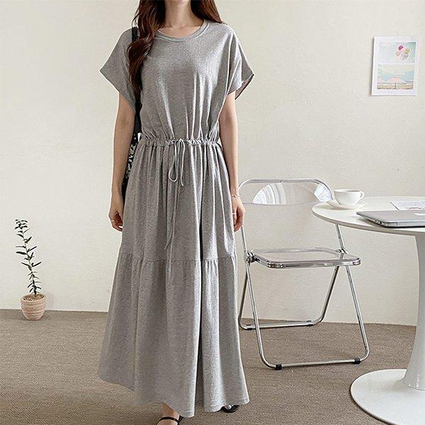 104 하프라운드넥롱원피스 DNOE132 도매 배송대행 미시옷 임부복